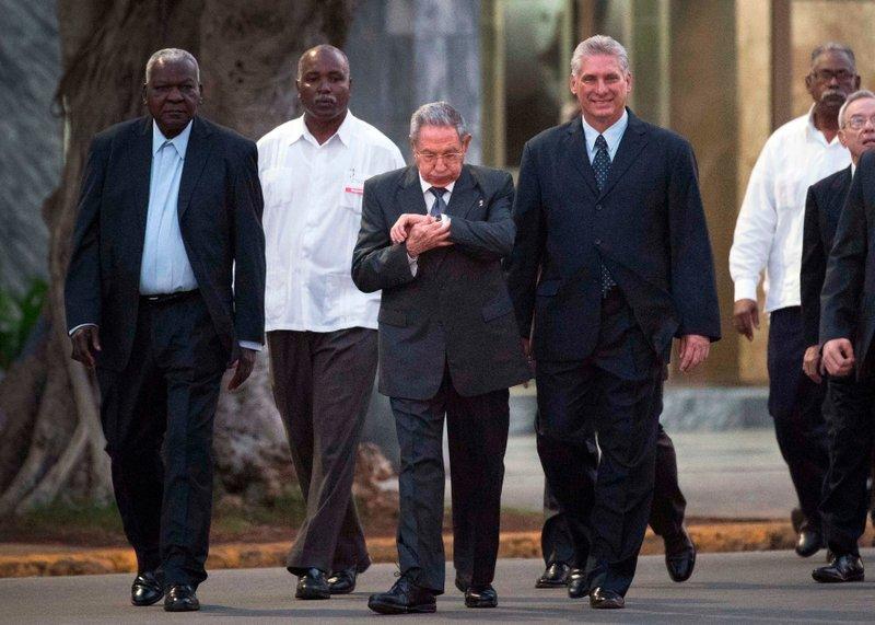 Raul Castro, Miguel Diaz-Canel, Esteban Lazo Hernandez