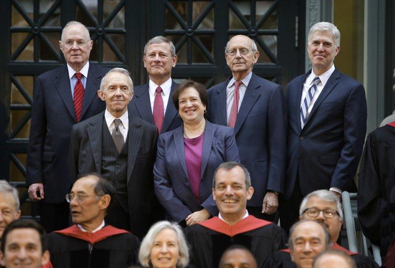Anthony Kennedy, John Roberts, Stephen Breyer, Neil Gorsuch, David Souter, Elena Kagan