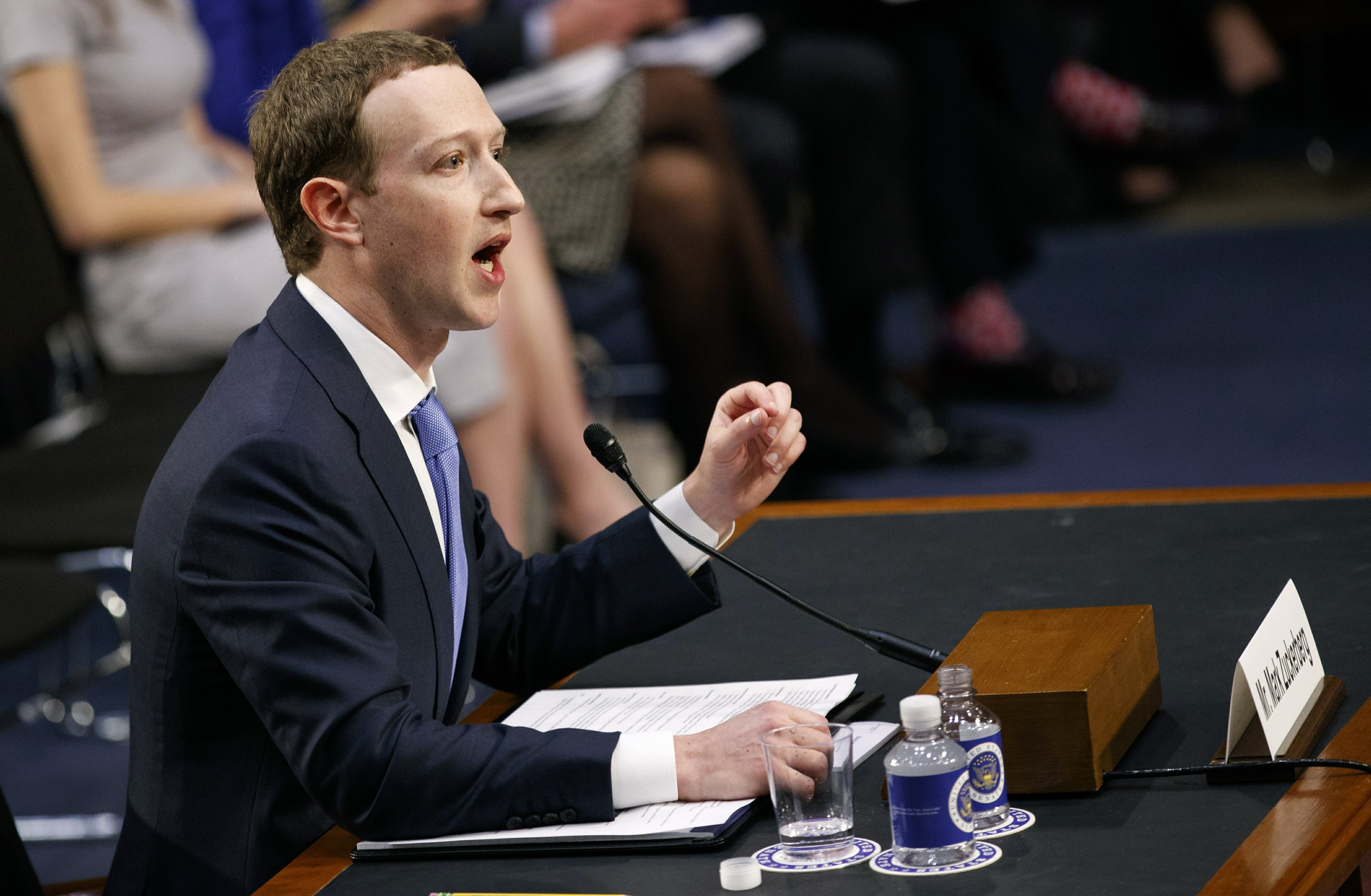 The Latest: Zuckerberg ends Day 2 of grilling by Congress