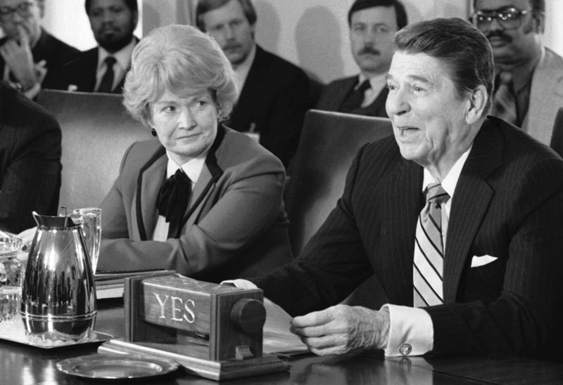 Margaret Heckler, Ronald Reagan