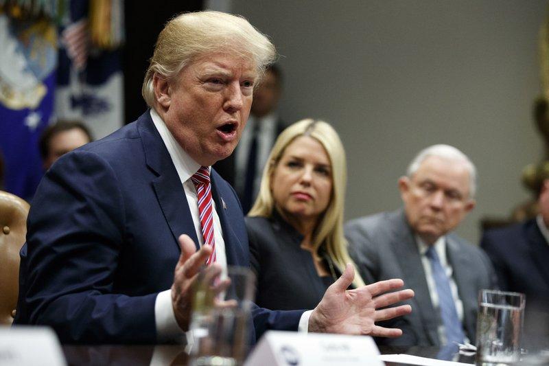 Donald Trump, Pam Bondi, Jeff Sessions