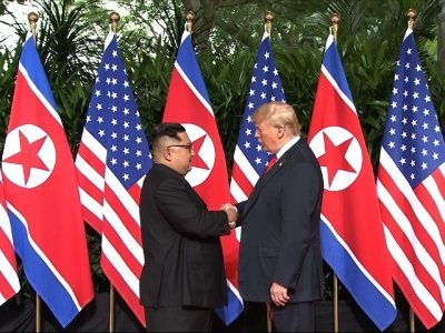 President Trump and Kim Jong Un Share Handshake