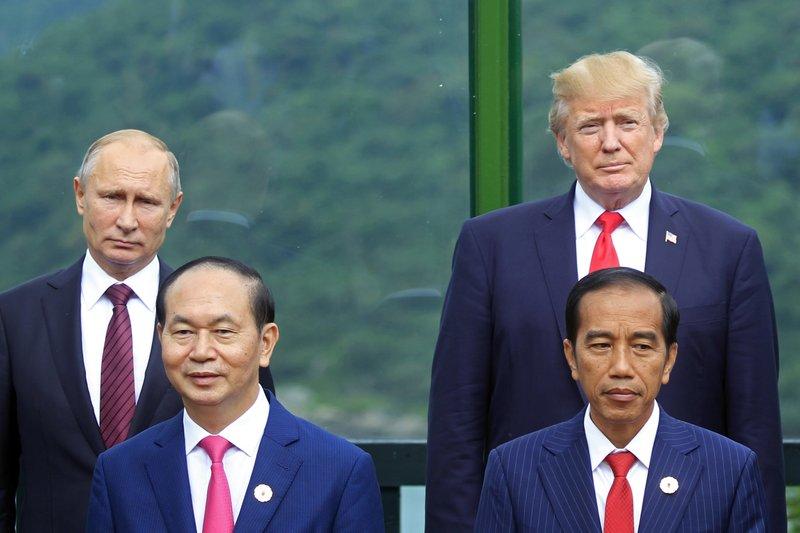 Donald Trump, Vladimir Putin, Tran Dai Quang, Joko Widodo,