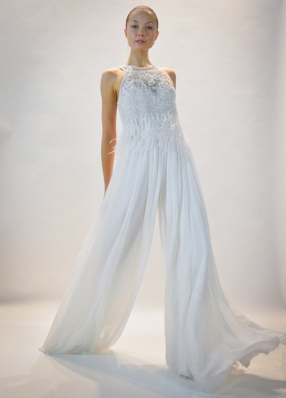 In This Oct 10 2016 Photo Fashion From The Badgley Mischka Bridal Collection Is Modeled New York Boho Chic To Traditional Ball Gowns