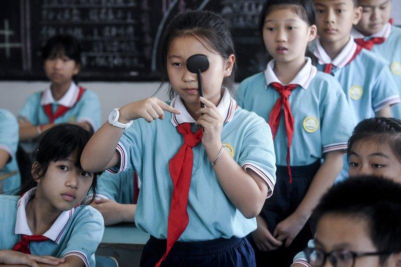 Проверка зрения учеников начальной школы