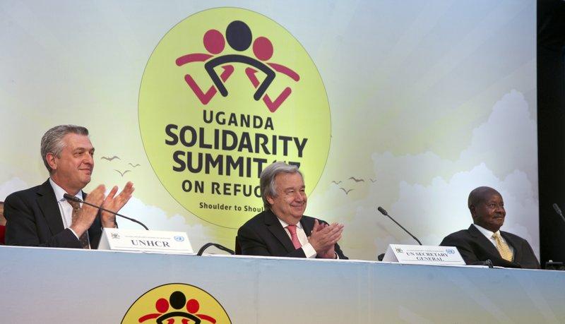Filippo Grandi, Antonio Guterres, Yoweri Museveni