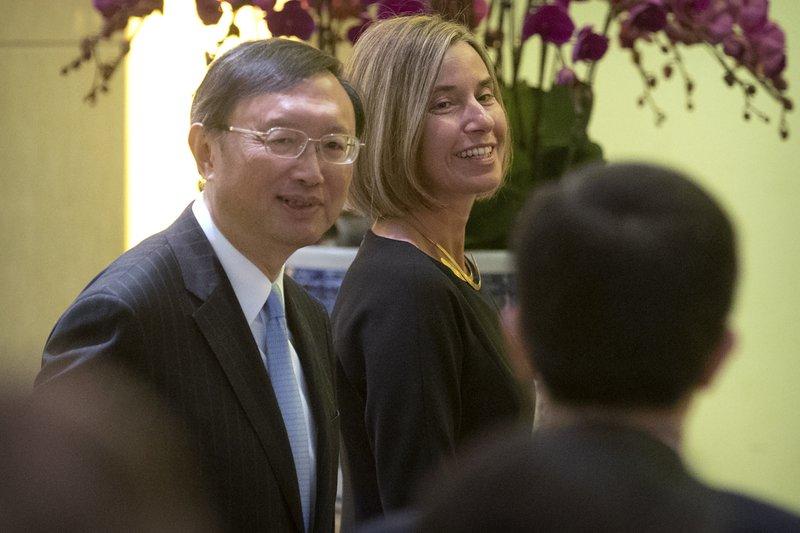 Yang Jiechi, Federica Mogherini