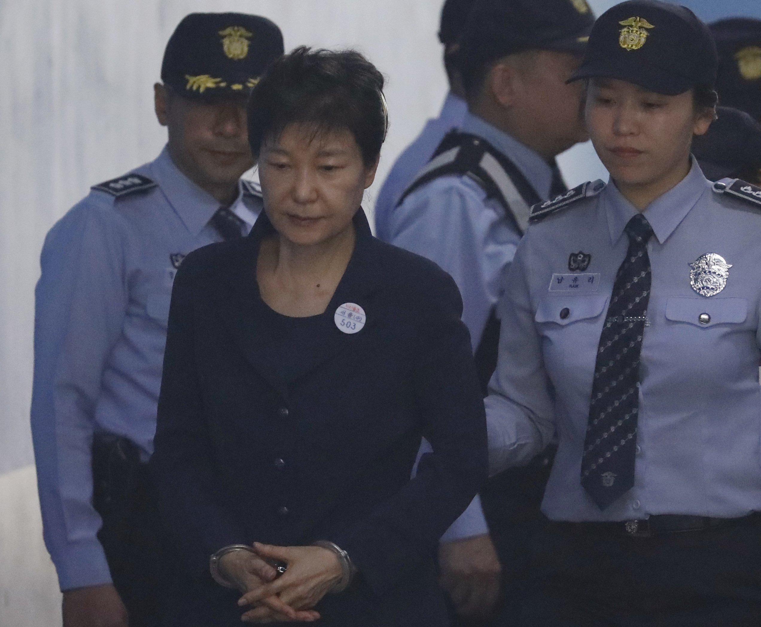 Ex-South Korean President Park begins corruption trial