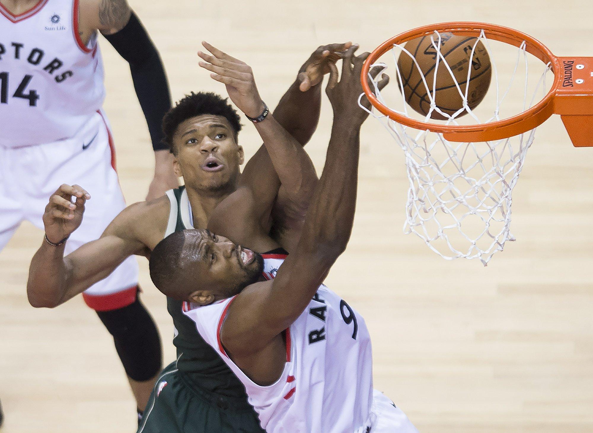Lowry has 25, Raptors rout Bucks 120-102 to even East finals