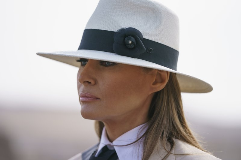 Melania Trump brushes off questions about her husband's alleged infidelity