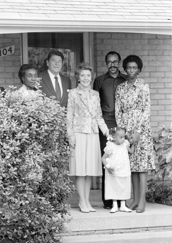 Ronald Reagan, Nancy Reagan, Phillip Butler, Barbara Butler, Dorothea Tolson, Natasha Butler