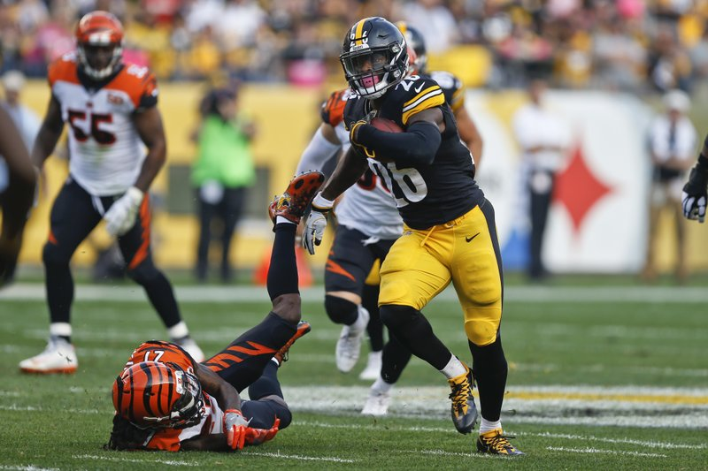 0bd8766b7 Le Veon s Load  Steelers RB Bell on near record pace