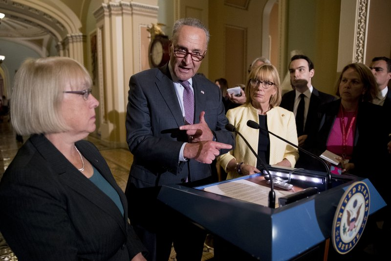 Chuck Schumer, Patty Murray, Jeanne Shaheen