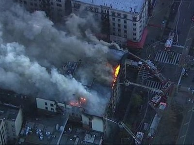 FDNY Battles Apartment Blaze in New York