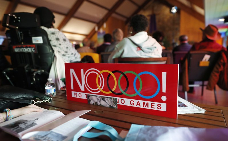 No Olympics in Colorado sign