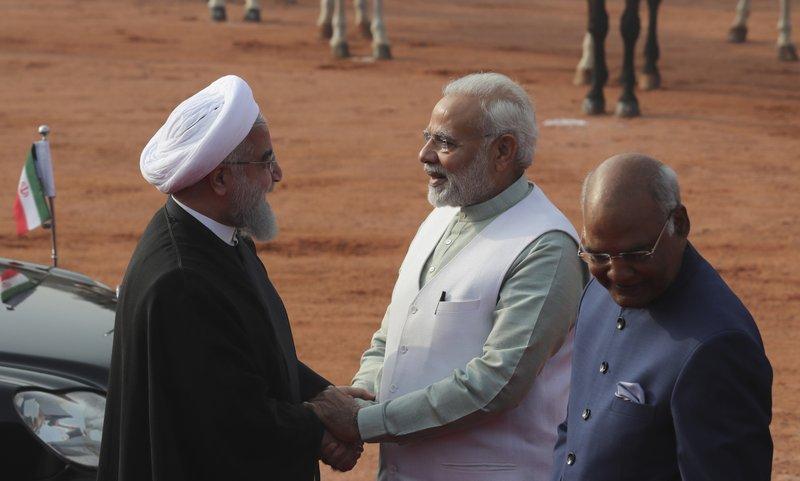 Hassan Rouhani, Ram Nath Kovind, Narendra Modi