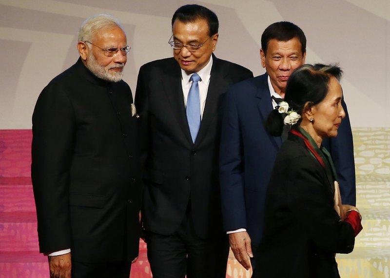 Aung San Suu Kyi, Narendra Modi, Li Keqiang, Rodrigo Duterte