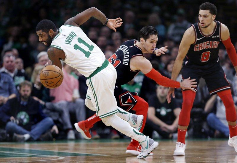 7147781db48 Irving scores 17 points, Celtics rout Bulls 111-82