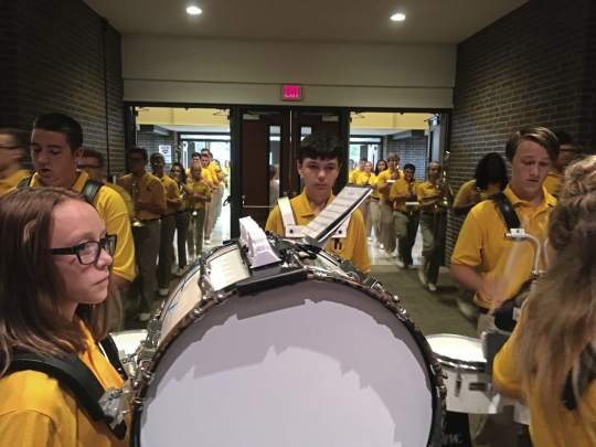 Highlands Marching Band has pie night