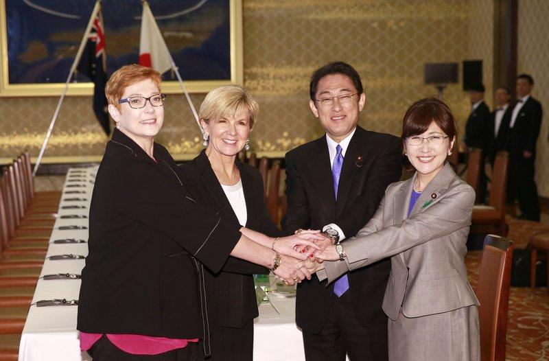 Marise Payne, Julie Bishop, Fumio Kishida, Tomomi Inada