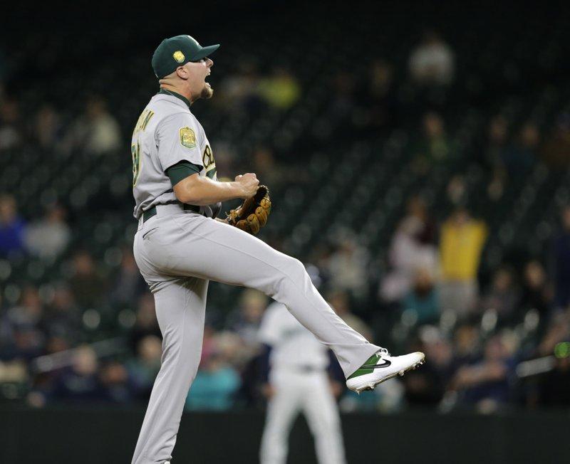 Athletics Clinch Postseason Spot Yanks Lose Hicks To Injury
