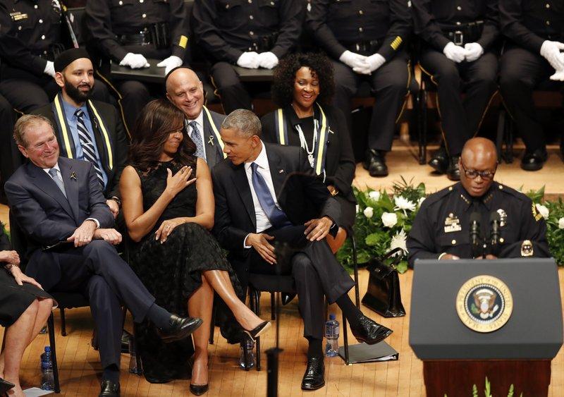 David Brown, George W. Bush, Michelle Obama, Barack Obama,