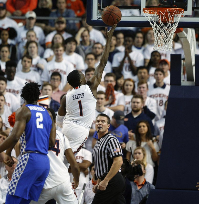 Brown Harper Lead No 10 Auburn Past Kentucky 76 66