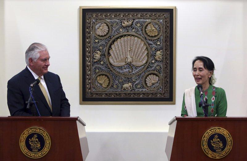 Rex Tillerson, Aung San Suu Kyi