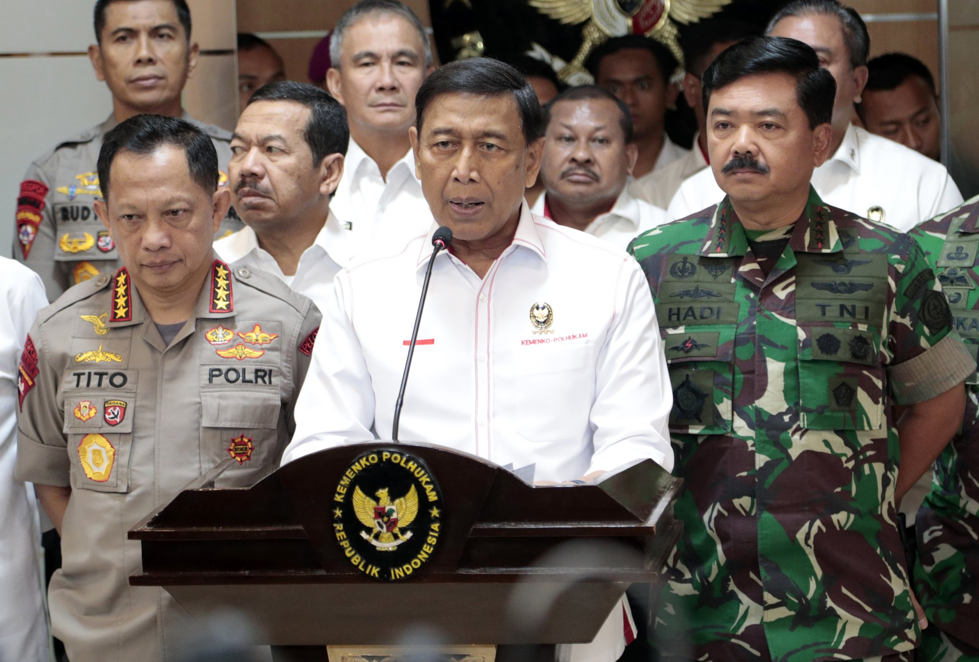 The Latest: Indonesian president says he won re-election