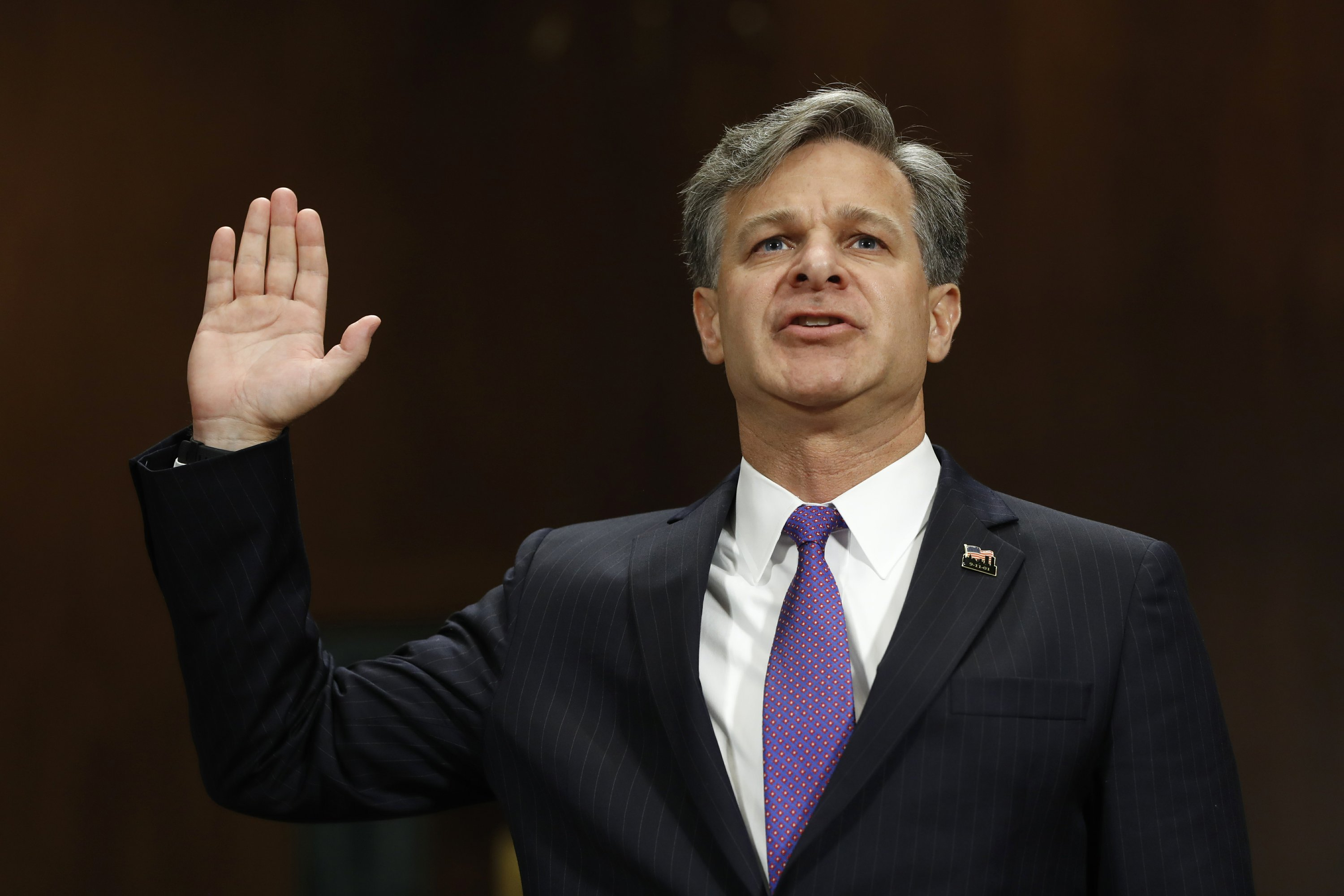 FBI nominee says Trump-Russia probe is no 'witch hunt'