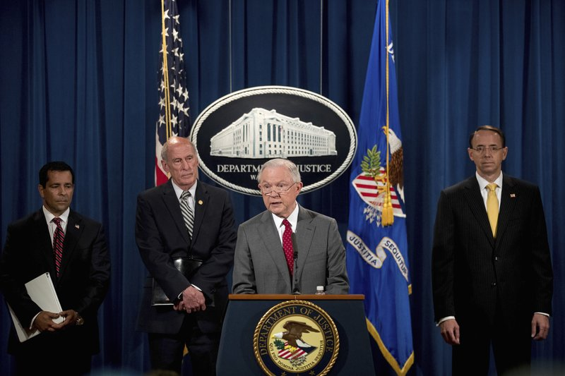 Jeff Sessions, Dan Coats, Rod Rosenstein, William Evanina