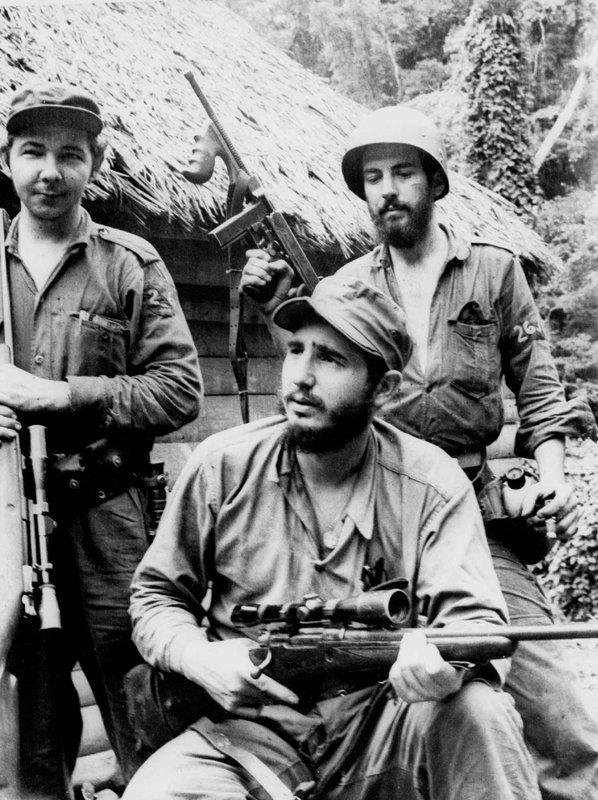 Fidel Castro, Raul Castro, Camilo Cienfuegos