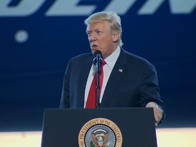 Trump Visits Boeing Facility in SC, Talks Jobs