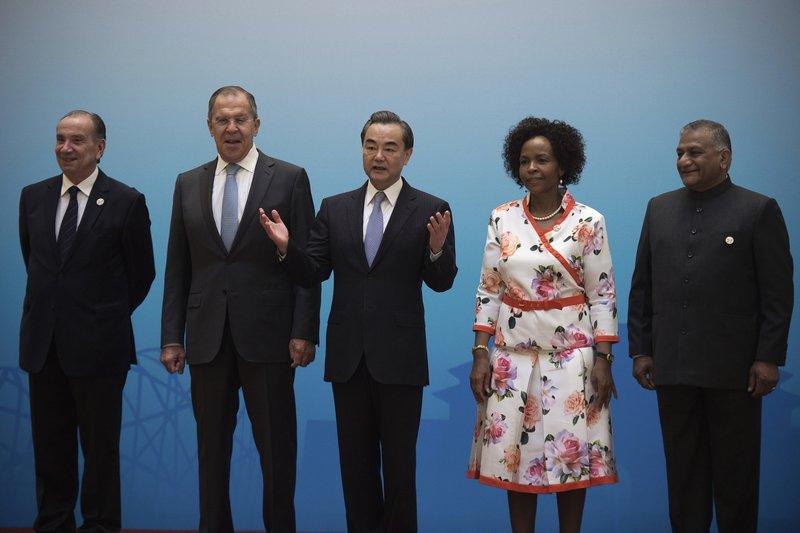 Aloysio Nunes, Sergey Lavrov, Wang Yi, Maite Nkoana-Mashabane, Vijay Kumar Singh