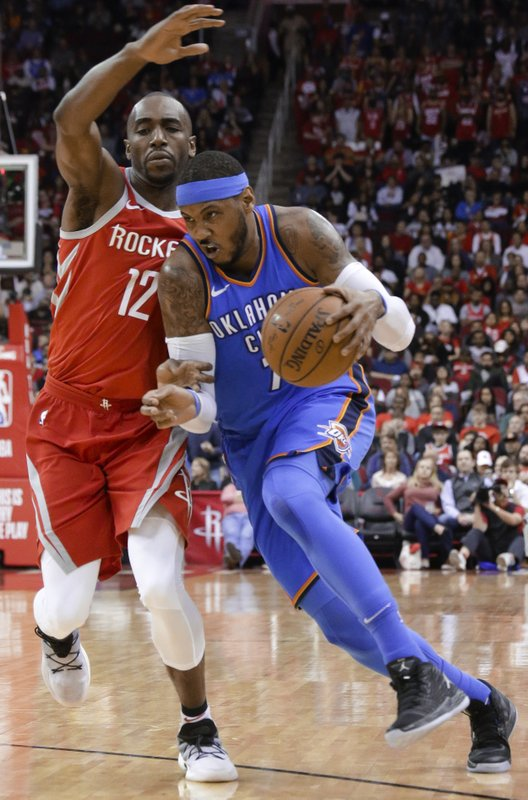 Luc Mbah a Moute, Carmelo Anthony