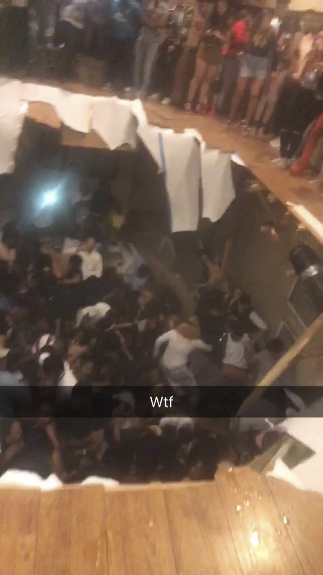 The Floor Literally Collapsed During a College House Party and the Video Is Insane