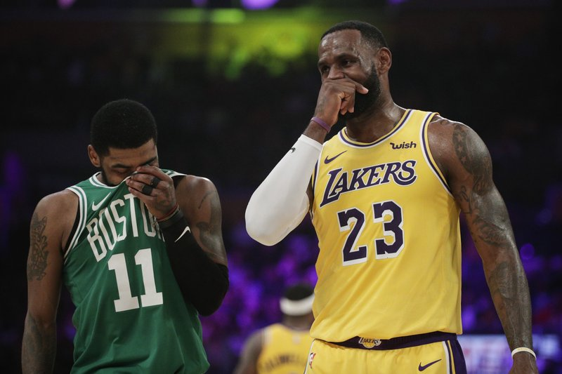 check out b2290 3b028 Kyrie's 30 propel Celtics past LeBron's Lakers, 120-107