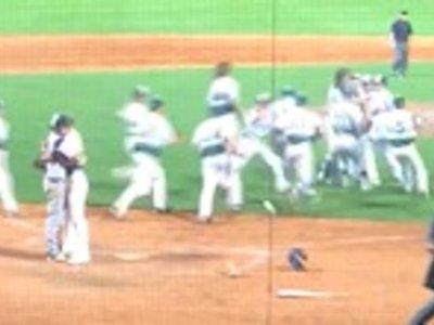 Pitcher Hugs Batter After Game-Ending Strike Out