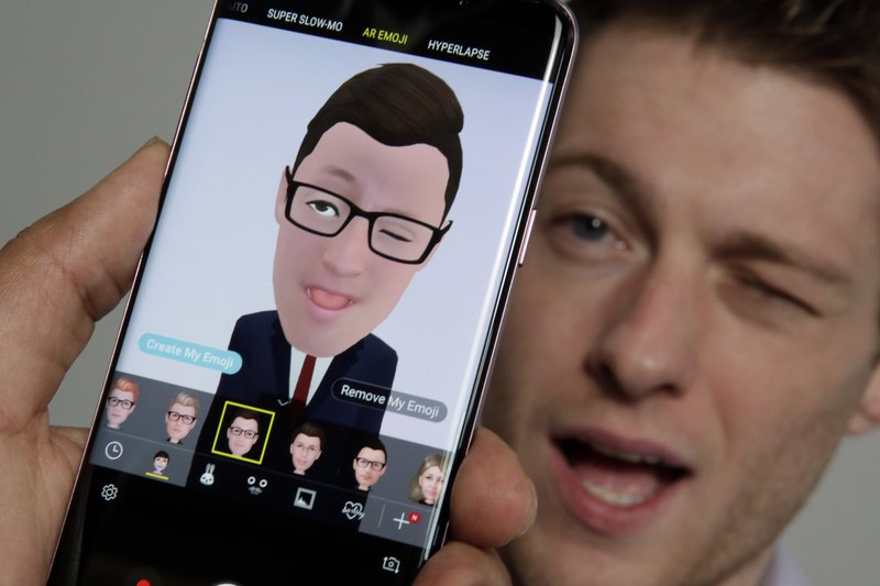 Aaron Baker, Samsung Galaxy S9 Plus, AR Emoji