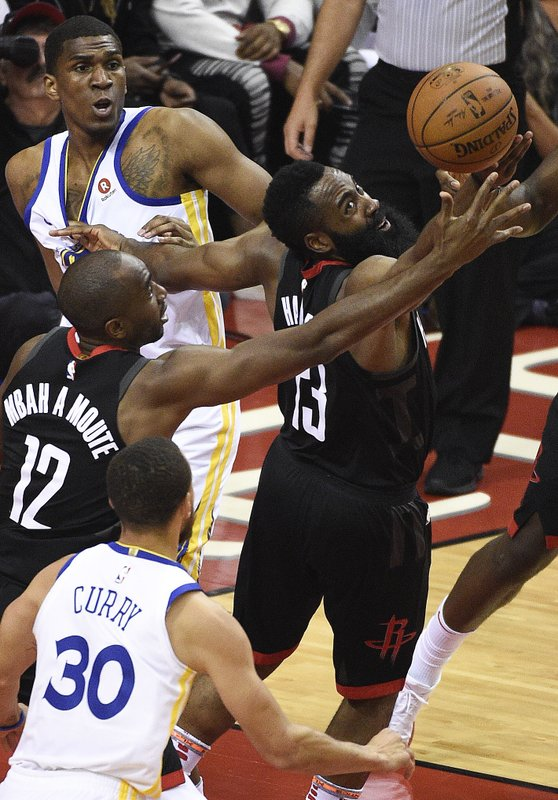 db20c0d126ad Rockets rout Warriors 127-105 to tie series at 1-all