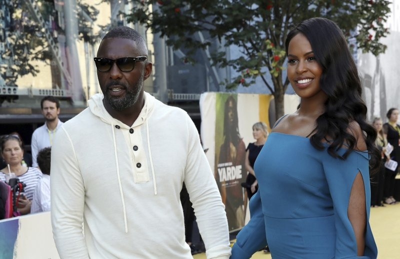 (L to R) Idris Elba, Sabrina Dhowre, Idris Elba