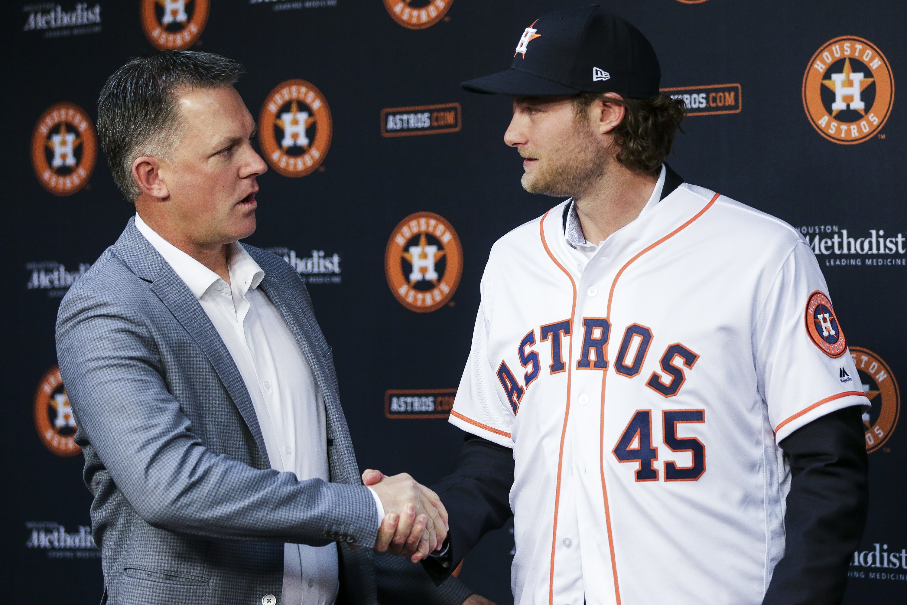 new style aac21 33d9e Cole excited to join Verlander, Keuchel on Astros staff