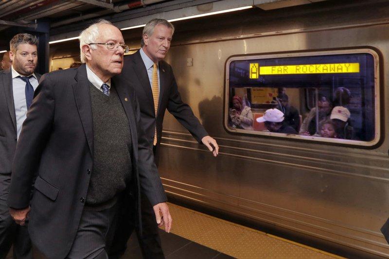 Bernie Sanders, Bill de Blasio
