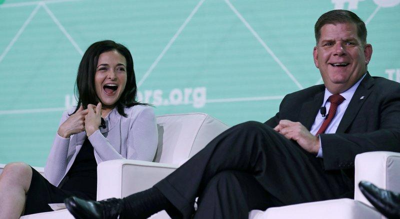 Sheryl Sandberg, Marty Walsh