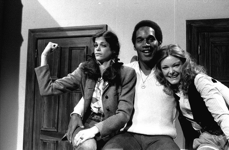 O.J. Simpson, Gilda Radner, Jane Curtin