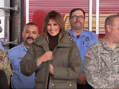 First Lady Melania Trump Reviews Texas Hurricane Recovery