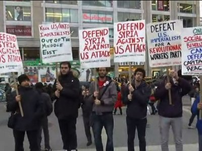 Protesters Rally in NY, Pa. Against Airstrikes