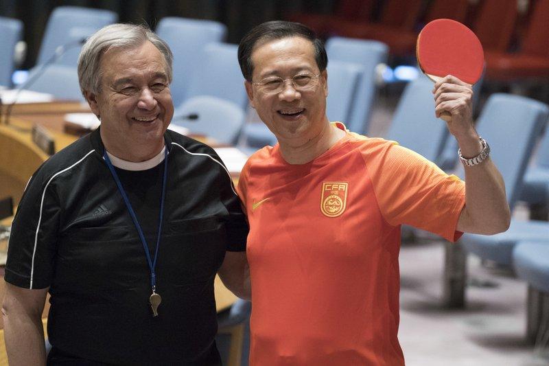 Antonio Guterres, Ma Zhaoxu