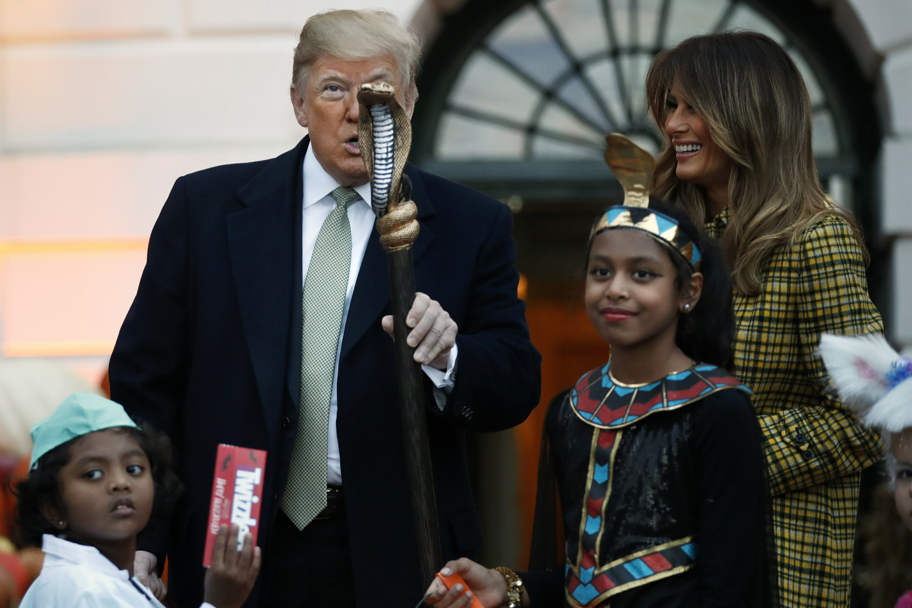 President Trump marks Halloween at the White House