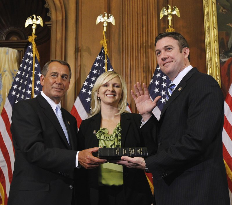 John Boehner, Duncan Hunter, Maragaret Hunter